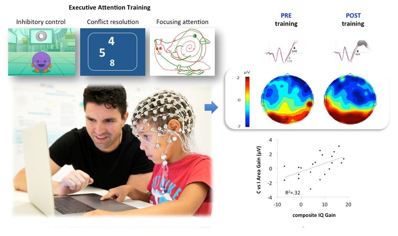 Aufmerksamkeit training verbessert Intelligenz und funktionieren, das Gehirn der Kinder