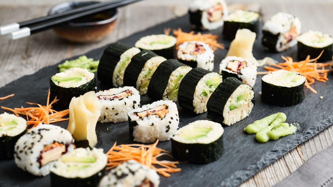 Vegane Sushi mit Reis