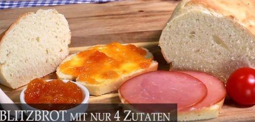"""Sie brauchen nur vier Zutaten: Frisches """"Blitzbrot"""" in Rekordzeit selber backen – Video"""