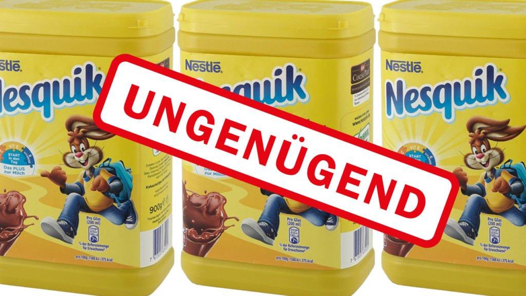 Kakao Nestlé Nesquik fällt total durch – Auch Organschäden können auftreten!