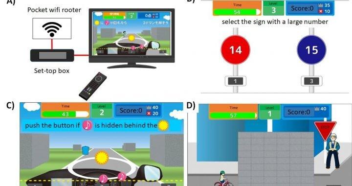 Neue kognitive training-Spiel zum verbessern der fahrerischen Fähigkeiten bei älteren Menschen