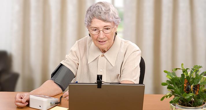 Telemedizin hält die Beschwerde für Senioren-Umfrage zeigt