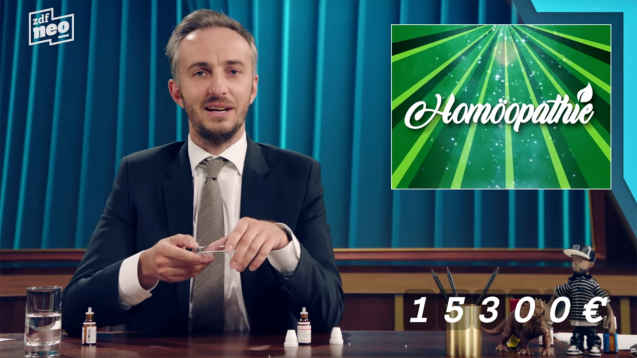 Jan Böhmermann wettert gegen Homöopathie