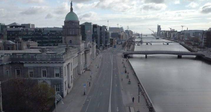 Gespenstisch – Drohnenvideos aus Dublin zeigen eine Geisterstadt